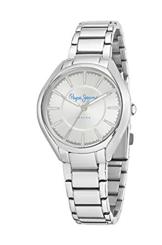 Pepe Jeans R2353101502 - Reloj con correa de caucho para mujer, color plateado/gris