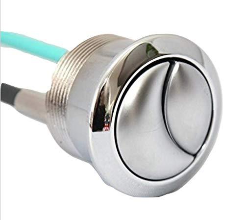 Chrom/Satin-Ideal Standard Ersatz WC Flush Button E4447uPVC Satin Finish mit Chrom Ring für Platz Spülkasten Einlass unten 6L - Push-button-satin