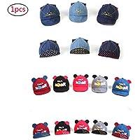 Headwear del bebé Infantil de Carga del Sombrero de béisbol Gorra para el Sol Chica del Muchacho de ala de protección Solar del Sombrero del Arco 1PC - Color al Azar