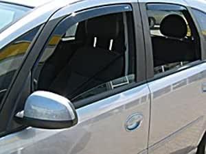 Zentimex Z902294 Windabweiser Regenabweiser Acrylglas Dunkelgrau Für Vorne Und Hinten Auto