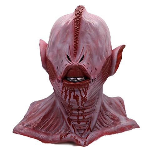 Lixinfushi Halloween Alien Maske, Vollkopf Erwachsenen Latex Maske Cosplay Halloween Alien Kostüm - Ted Für Erwachsene Kostüm Hat