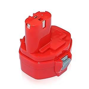 Efluky Batterie de remplacement Ni-Cd pour Makita PA14 1420/1422/1400/192600–1/194172–2/193062–6/193987–4/638350–9-2/193985–8 3000mAh 14,4V
