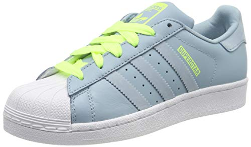 adidas Unisex-Kinder Superstar Gymnastikschuhe, Grau (Ash S18/Ash Grey S18/Hi/Res Yellow), 37 1/3 EU (4.5 UK)