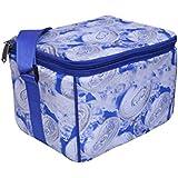 BagsRUs Printed Royal Blue 12 Can Chiller Cooler / Thermal Bag