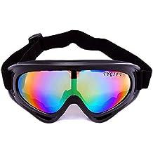 YYGIFT CS- Gafas protectoras antiviento, para motocicleta, ciclismo y deportes de nieve, protección UV400, multicolor