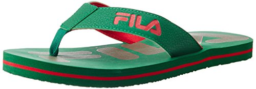 Fila Men's Fila Flip Light Green and Red  Flip Flops Thong Sandals -10 UK/India (44 EU)  available at amazon for Rs.209