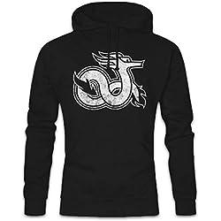 Celtic Dragon V Hoodie Sudadera con Capucha Sweatshirt Tamaños S - 2XL