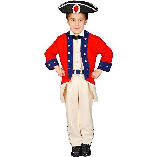 Deluxe Historical Colonial Soldier Costume Set - Small 4-6 by Dress Up ()