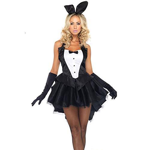 LPP Damen Halloween Kostüm, Siamese Bunny Kostüm Halloween Cosplay Stage Dress Für Party, Tanz, - Best 80's Paare Kostüm