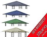 freigarten.de Ersatzdach für Pavillon 3x3 Meter Sand Antik Pavillon Wasserdicht Material: Panama PCV Soft 370g/m² extra stark
