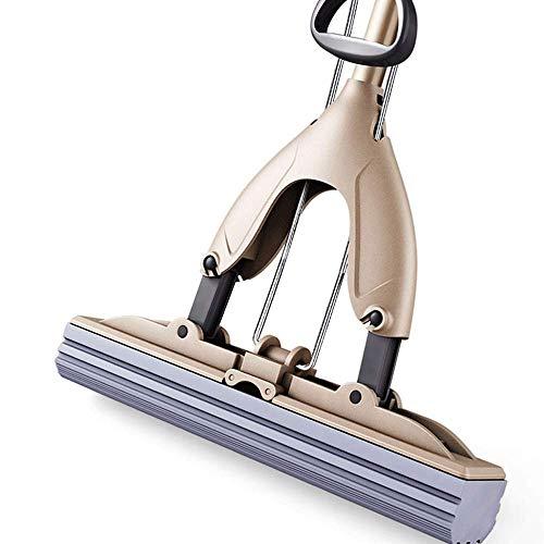 Vinteen spugna mop lavare a mano libera domestica piegare cotone assorbimento di acqua mop pigro tampone tampone artefatto pavimento tappetino secchio (dimensione : a)