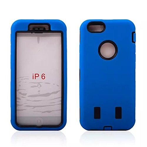 Case Cover PC Robot en silicone hybride Combo de protection pour iPhone 6 blanc