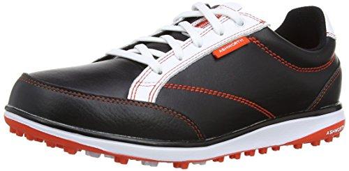 Ashworth G54302, Unisex Erwachsene Golfschuhe, Schwarz - Black/Dark Orange/White - Größe: 38 2/3 EU