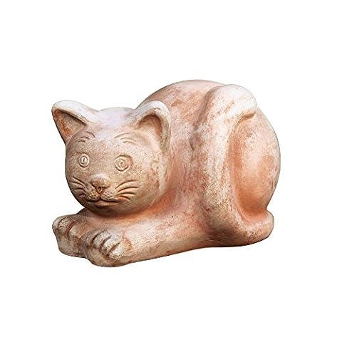 decoration figurine cat orange