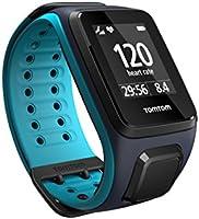 TomTom RUNNER 2 Cardio + Music - Montre de Sport GPS - Bracelet Large - Bleu Marine/Turquoise
