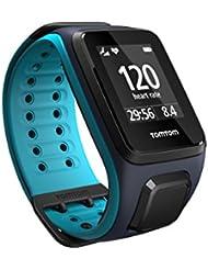 TomTom Runner 2 Cardio + Musik GPS Uhr, blau, L, 1RFM.001.01