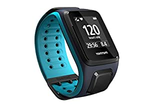 TomTom Runner 2 Cardio Orologio GPS, Cardiofrequenzimetro Integrato, Cinturino Grande, Blu/Azzurro