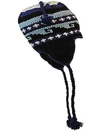 289015ec43 Bonnet Company Bonnet Népalais Artisanal, Vague Bleu, Taille Unique, ...