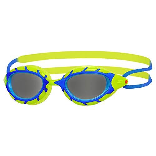 Zoggs Mädchen Predator Junior Schwimmbrille Blue/Lime/Smoke One Size