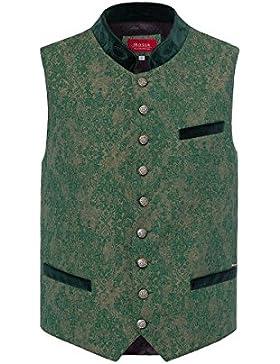 Moser® Herren Trachtenweste grün-taupe Leopold 004193