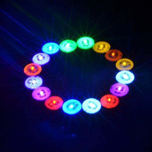 lesypet 1paio orecchini fascio di luce a LED con corona di diamanti pendente a tipo ear stud acciaio per Rave party, multicolore, Colorful, 1 Paio - Rave Fascio