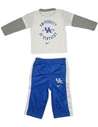 NCAA Kentucky Wildcats nourrisson Top Sports manches longues et pantalon Set - Blanc & Bleu
