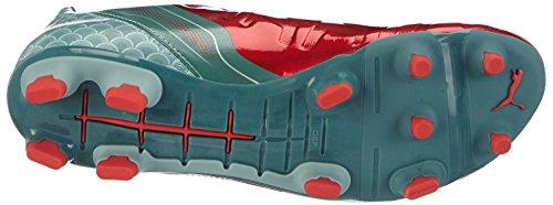 Puma - Evopower 2.2 Graphic Fg, Scarpe da calcio Uomo Rosso (Rot (high risk red-white-sea pine 01))