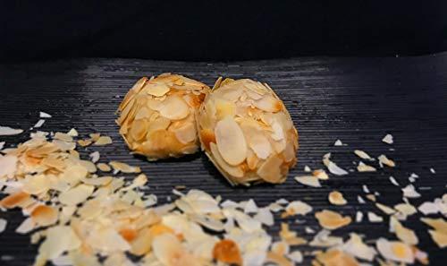 Amaretti Morbidi Mandelbällchen - frisch & handwerklich hergestellt - außen knackig und innen weich - Italienisches Mandelgebäck - Marzipangebäck - 500g - 14-15 Stück