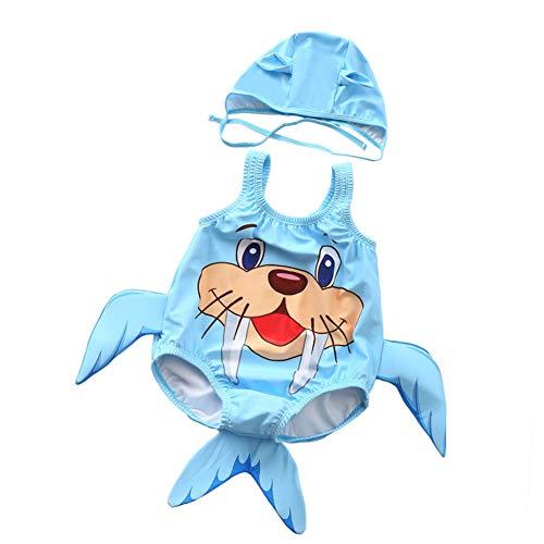 Chytaii. Cartoon Walross Badeanzug Bikini Set Badebekleidung für Kleinkind Jungen Babys für Schwimmen Sommer Reise am See XL