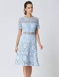 278b19bf16f6 Amazon.it  Vestito Celeste - Vestiti   Donna  Abbigliamento