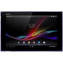 Funda de silicona para Sony Xperia Tablet Z - X-Style púrpura - Cover PhoneNatic Cubierta + protector de pantalla