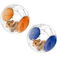 Emours piccola palla rotante mini da 12,2cm per corsa ed esercizio criceti, 2pezzi