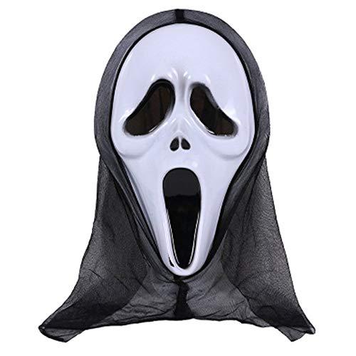 zhongzheng Halloween-Kostüm für Erwachsene Kostümzubehör für Erwachsene Halloween-Horror-Gesichtsmaske -