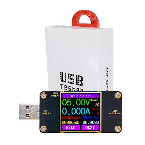 diymore TFT USB Multimeter Tester Spannungsprüfer Stromtester Voltmeter Stromzähler Amperemeter Batterieladung Widerstandstester Voltage Power Akkumulierte Kapazität Energie UT21B mit Bluetooth
