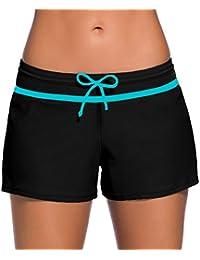 Bettydom Mujer Pantalones de Natación Bottom Ropa de Baño Bikini Opcionales