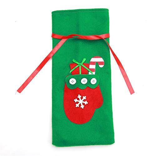 LJSLYJ Weihnachten Weinflasche Abdeckung Geschenk Taschen Handschuh Weihnachtsschmuck
