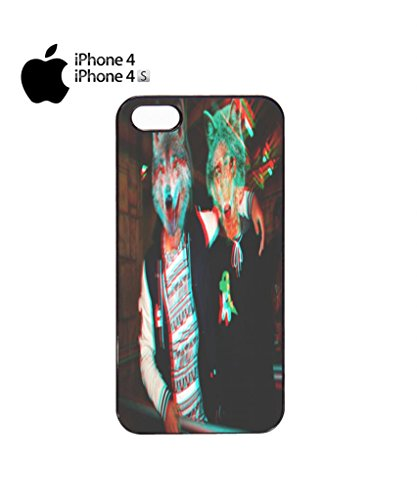3D Wolves Wolf Head Cell Phone Case Cover iPhone 5c Black Noir