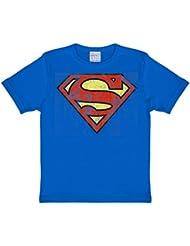 Superman - T-Shirt Mixte Enfant Distressed Logo - Bleu