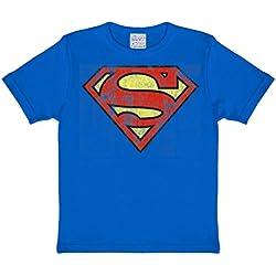 Superman Logo Logoshirt–Camiseta infantil Royal, 140/152