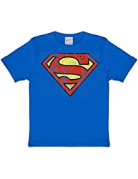 Superman - T-Shirt Mixte Enfant Distressed Logo - Bleu