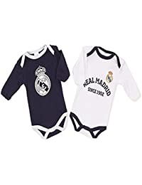 Pack Real Madrid 2 Bodys Blanco y Azul (6 Meses)