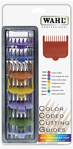 Shaving Factory Wahl Clipper Cutting Guides (coloured), 1er Pack (1 x 8 Stück) -