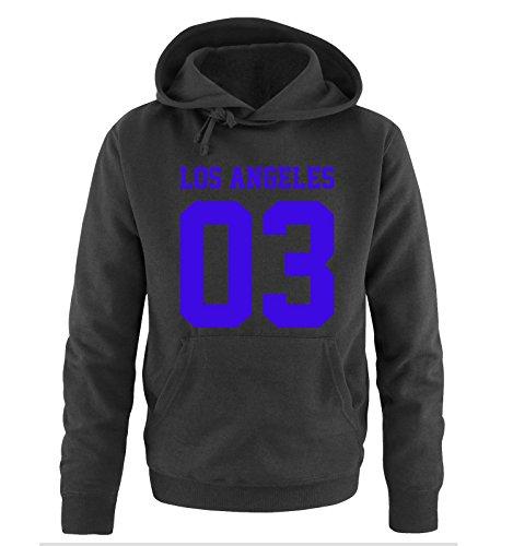Comedy Shirts -  Felpa con cappuccio  - Maniche lunghe  - Uomo Black / Royal Blue