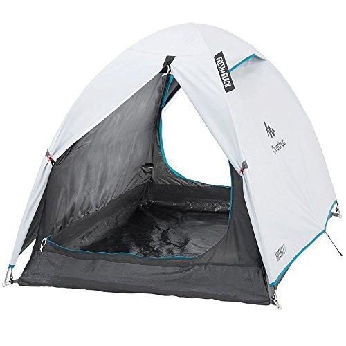 Quechua Arpenaz 2 Campingzelt, Schwarz/Schwarz, 2 Person, White/Black