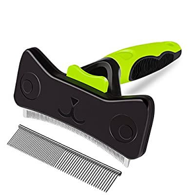 morpilot Pet Grooming Comb, Dog Undercoat Dematting Brush Tool Kit from morpilot