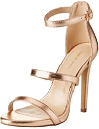 Gold 38 EU napolifashion Scarpe con cinturino alla caviglia Donna oro 63s