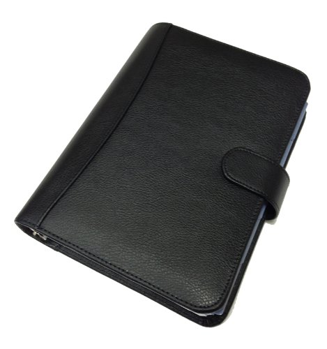 Collins Balmoral Premium Leather Personal Organiser Week to View 2018 Diary - Black