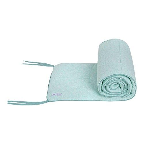 Preisvergleich Produktbild LITTLE DUTCH 5725 Jersey Bettnestchen mint melange Gr: 30x180cm