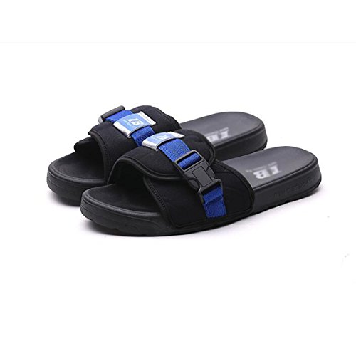 Pantoufles Hommes Printemps / Eté Sandales Chaussures De Plage Vietnam Natation Pantoufles Couples Intérieur Slip Shoes blue