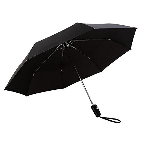 MP power @ Ombrello Pieghevole Auto con Automatico Apri e Chiudi Button Antivento UV Proof Viaggi Sun dell'ombrello della